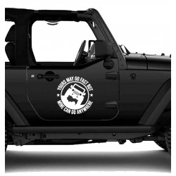 Sticker Jeep yours may go fast