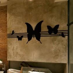 Sticker papillons musicaux...